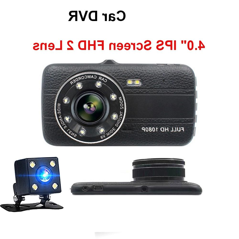 4.0 Ips Screen Car Dvr Lens <font><b>Dash</b></font> Hd 1080P Night-Vision Dvrs With View <font><b>Camera</b></font>
