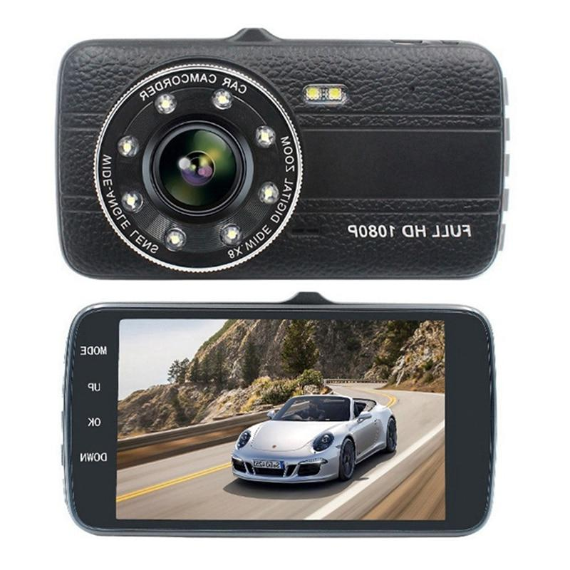 4.0 Inch Screen Car Dvr <font><b>Camera</b></font> Dual Lens Hd Night-Vision Dvrs With <font><b>Backup</b></font> View
