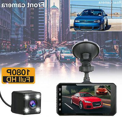 "4"" 1080P Touch Car Dash and"