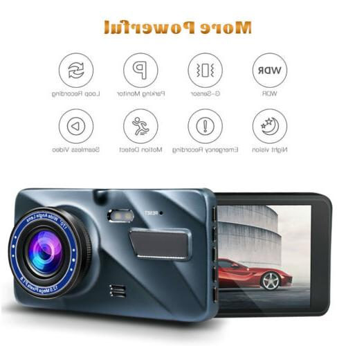 G-sensor Camera Dual Dash Cam Rear Vision 170