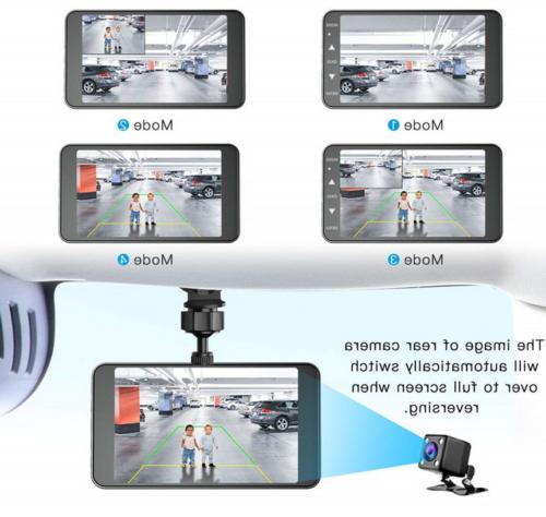 "4"" 1080P Dual Touch Car Dash Cam Recorder and"