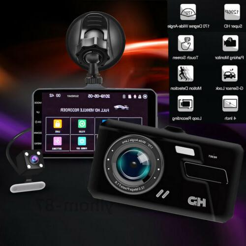 Touch Dash Cam Recorder Front and Rear Camera