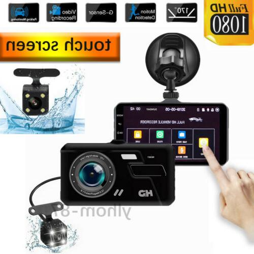 4 1080p dual lens touch screen car