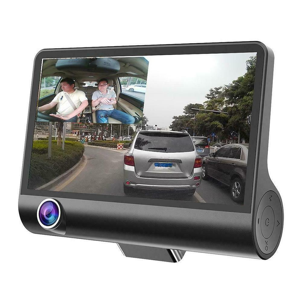 4 inches 1080P Car DVR Dash Recorder+Rearview Cam+ Bluetooth