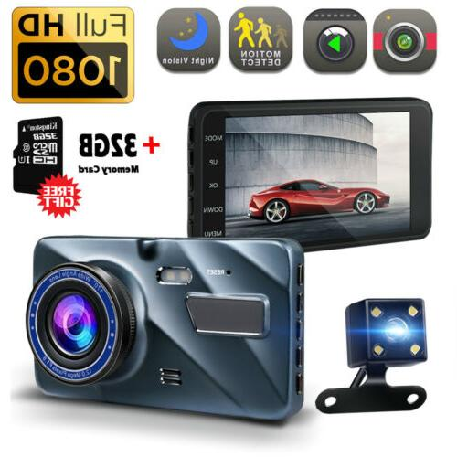 4 vehicle 1080p hd car dashboard dvr