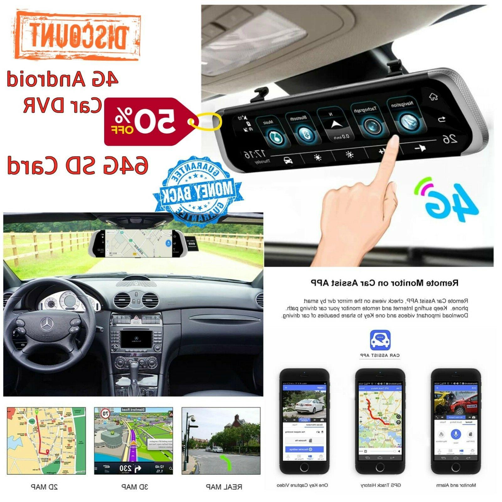 4g android car dvr 10 mirror car