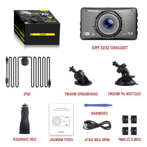 TOGUARD Dash Cam WiFi GPS HD 2160P Camera Parking