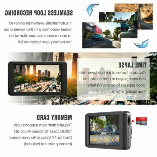 TOGUARD 4K Car Cam HD Dashboard Parking