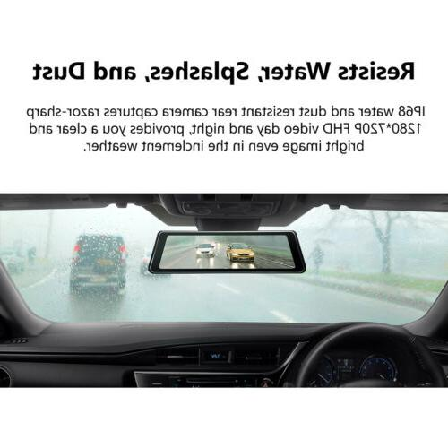 "Dual Lens 9.88"" Touch Vehicle in Car Dash Back Camera E"