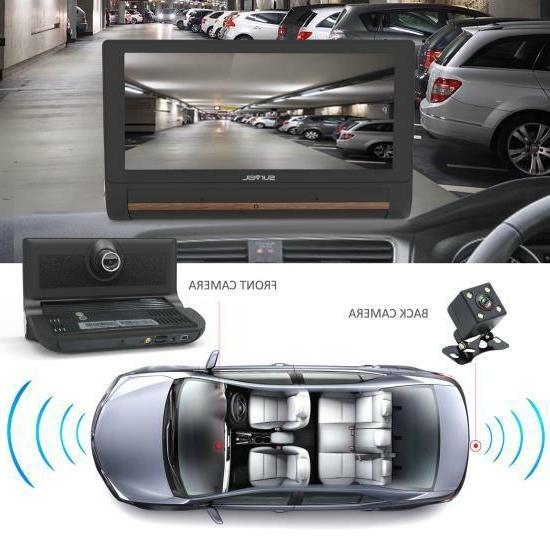 Pyle Touchscreen Android DVR Dashcam with Dual Cameras, Bluetooth