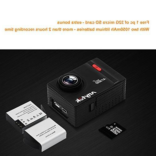 Sports Cam Inch, AT300 WIFI Diving Video Underwater 1350mAh Batteries Kit