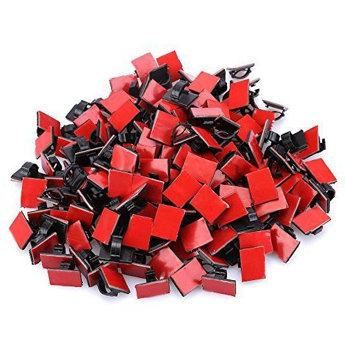 adhesive cable clips