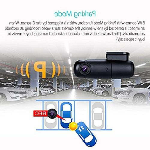 Blueskysea Dash Cam Vehicle Driving 360 Rotatable Lens 1080p G-Sensor Recording