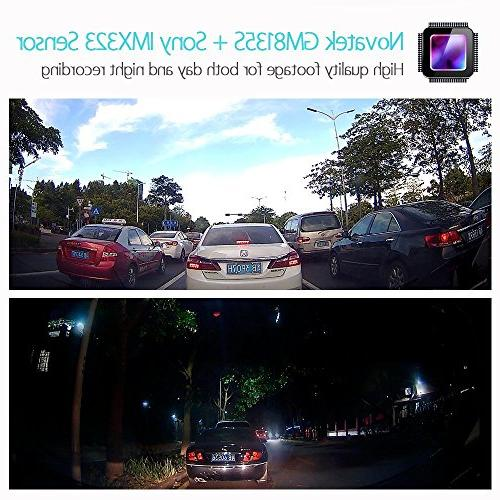 Blueskysea Dash Vehicle Driving 360 Degree 1080p G-Sensor Loop Recording