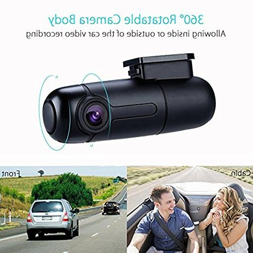 Blueskysea B1W WiFi Dash Cam Car Vehicle 360 1080p 30fps G-Sensor Recording