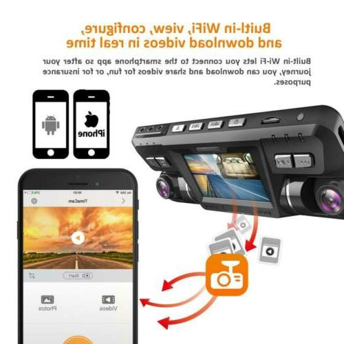 Pruveeo B80 with WiFi, Front and Inside, for Cars...