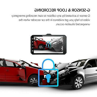 "4"" Dual Touch Screen DVR Dash Recorder and Camera"
