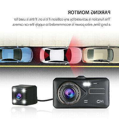 """4"""" Touch Screen Dash Cam and Rear"""