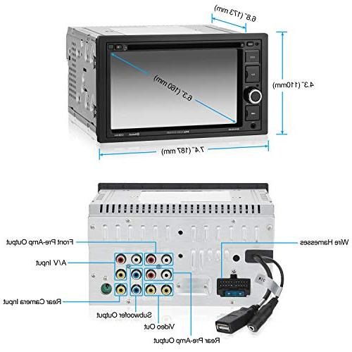 BOSS BV9364B Stereo Double Din, Bluetooth and Hands 6.2 Monitor, DVD, USB AUX Input, Receiver