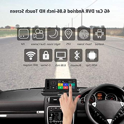 ANSTAR Cam, 4G Android Bluetooth Navigator Lens Video Rearview Camera