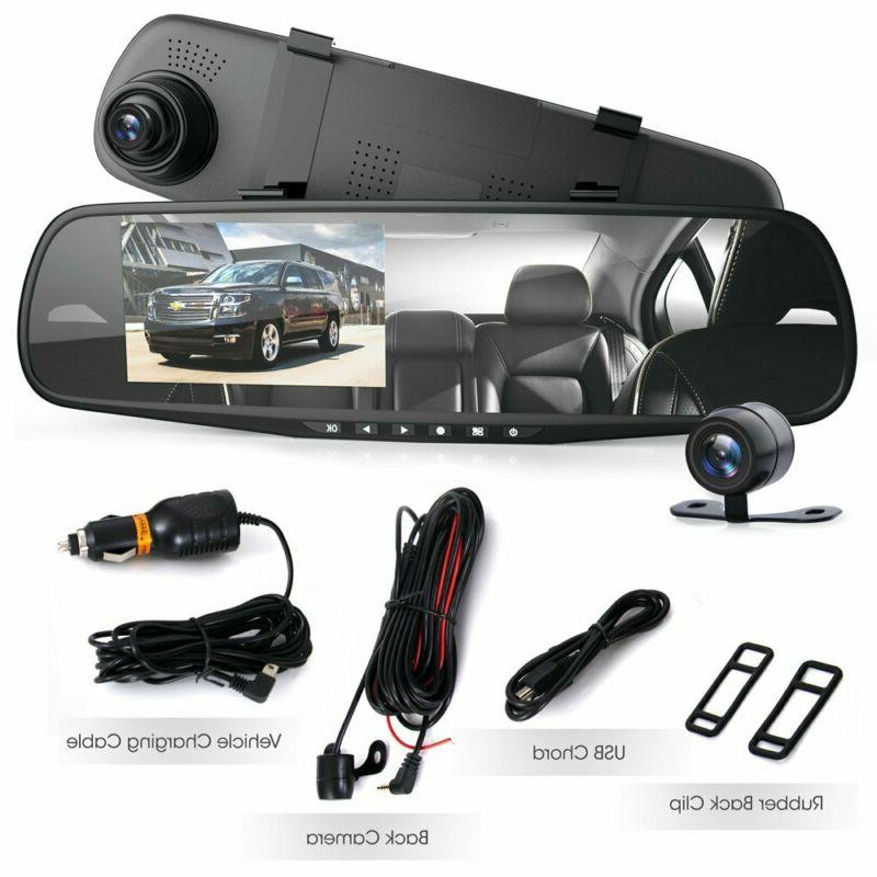 Car Dash Cam DVR Rear View Dual HD