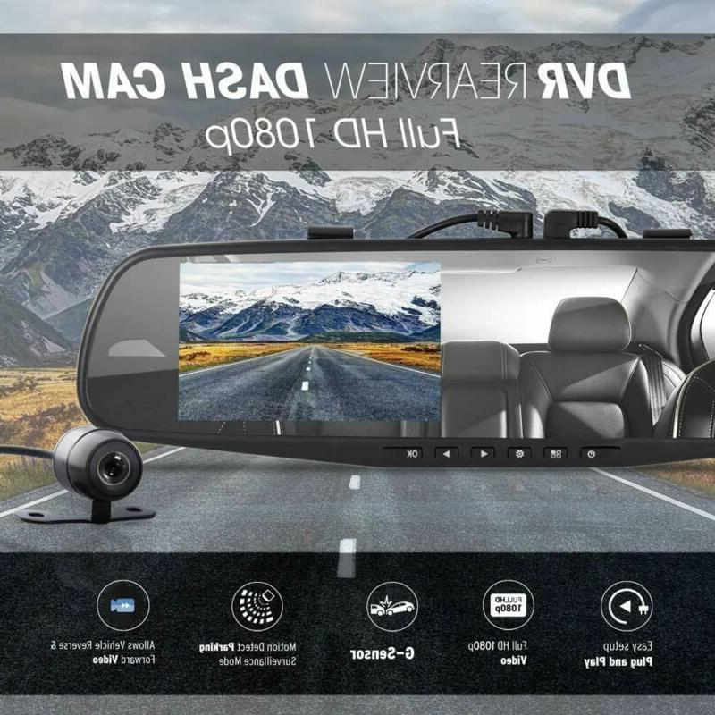 Car Dash DVR Rear Dual HD 1080p