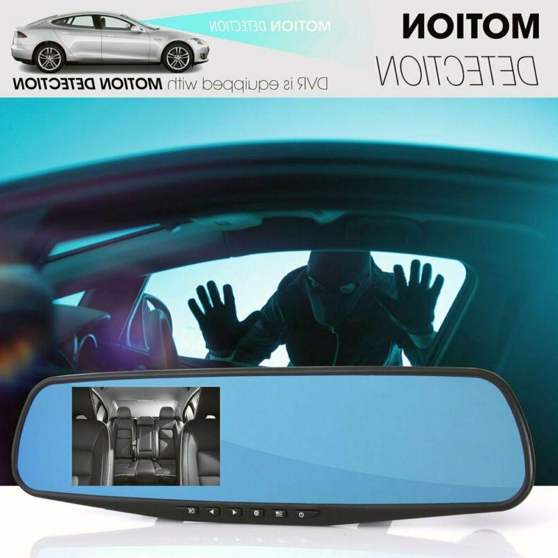 Car DVR Monitor Rear View Dual HD New