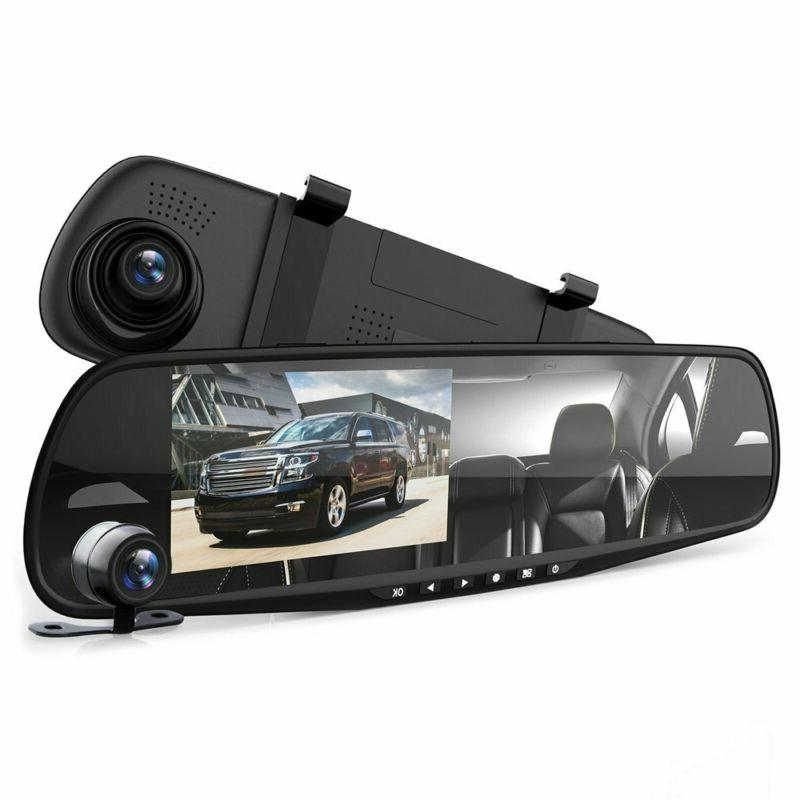 car dash cam mirror dvr monitor rear