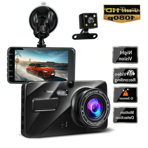 car dual dash cam front and rear