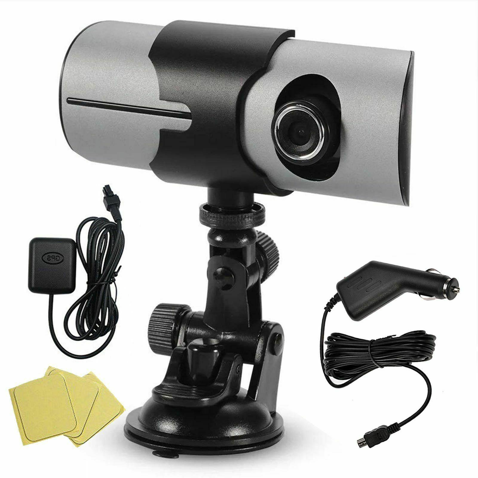 Car GPS Dual DVR Camera Cam G-Sensor w/ Night