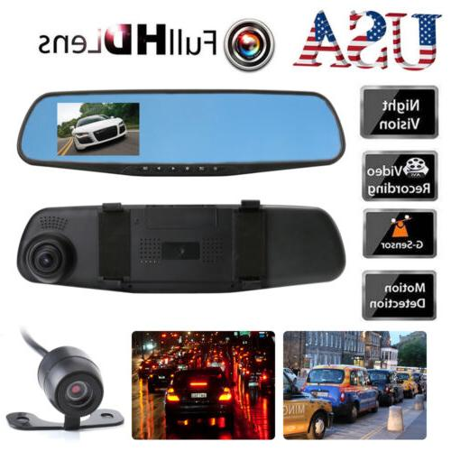 Dual Dash Cam Vehicle Front Recorder