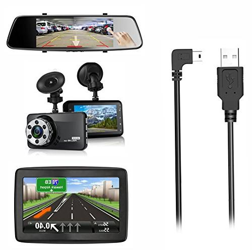 Charging Dash 2.0 to Micro Vehicle Power Cord for Cam、Backup Camera