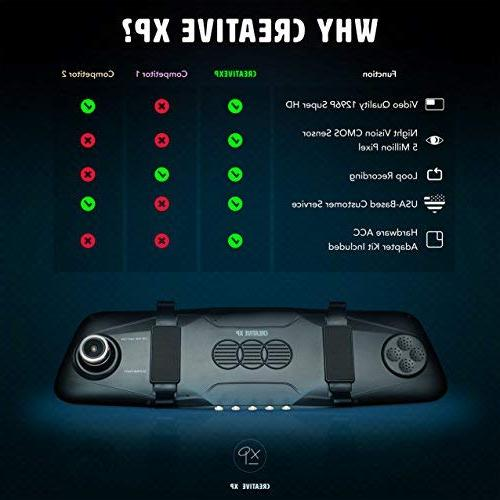 """CreativeXP Dual Front Rear Ultra Dashcam 