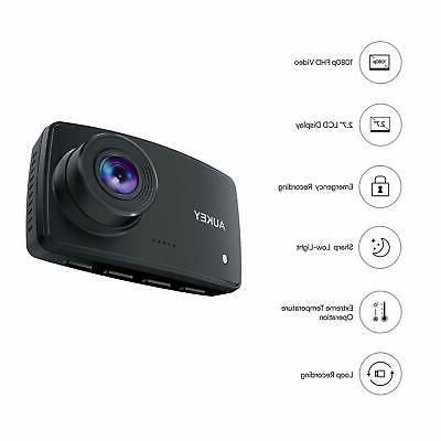 AUKEY Dash Cam, Dash Camera for with Lens, Inch Motio