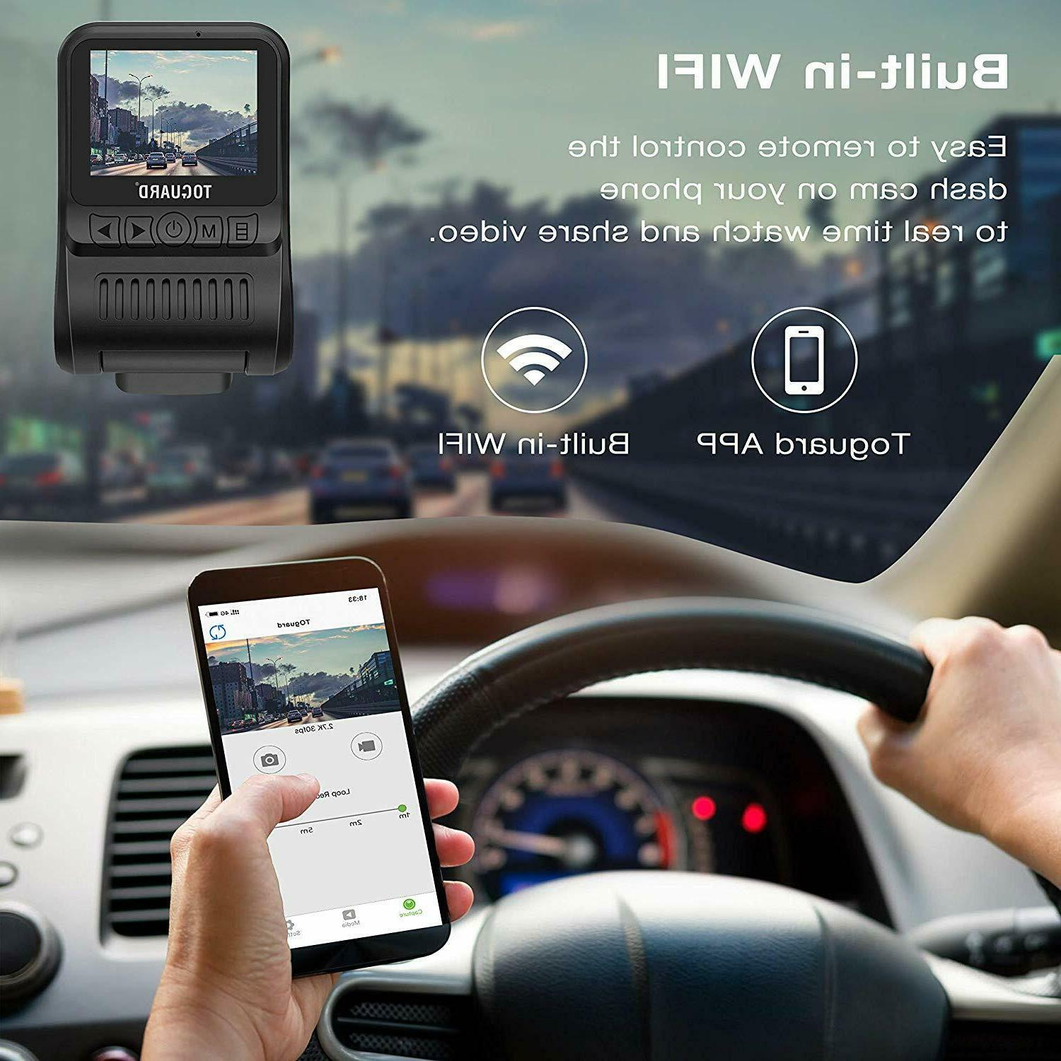 TOGUARD WiFi Dashboard Camera for inch Wide