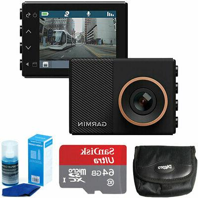 Garmin Dash Cam 55 Dashcam + 64GB Ultra MicroSDXC Memory Car