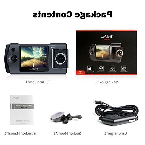 Dash Cam, by ABOX HD 1080P DVR Dashboard 180°Rotation Front Cabin, Len, Night Lock, Loop Motion Detection, Parking