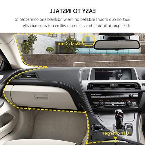 EEEKit Cam, LCD 1080P Car Dashboard Camera 170 Wide DVR Recorder with Loop Recording Parking