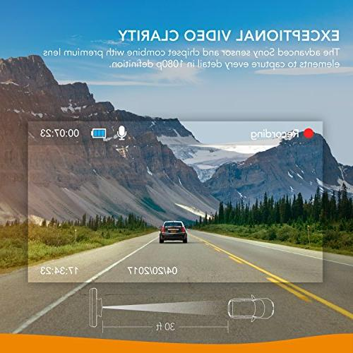 Roav Anker Cam with FHD 1080p, Sony Sensor, Wide-Angle GPS Logging, Wi-Fi, Dedicated App, Loop and 32GB microSD