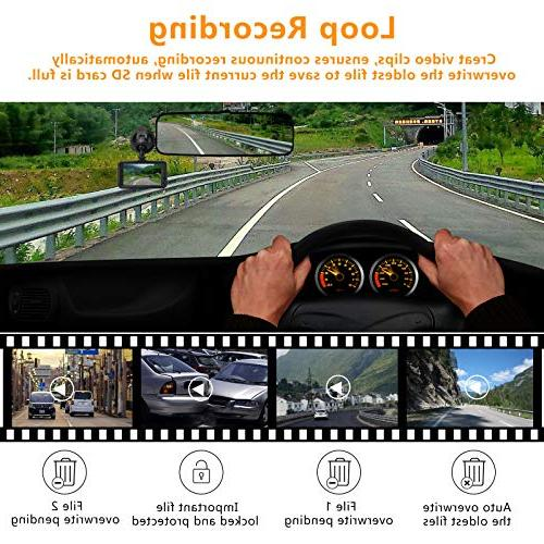 Dash Cam,zhiroad FHD Car Camera Car On-Dash Camera 170°Wide Angle Night Detection Parking Loop Recording