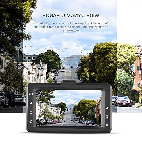 1080P 3.0 inch LCD Screen Dashboard Driving Recorder Degree Detection