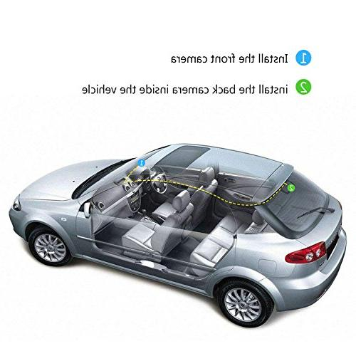 Z-EDGE Front and Rear Touch Screen Dual Dash FHD with Mode, Included,155 Degree Wide WDR, G-Sensor,