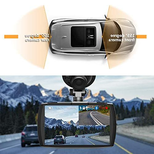 Z-EDGE Cam Front and Rear Screen Dual Cam FHD 1080P with Mode, 32GB Degree Angle, G-Sensor, Loop Recording