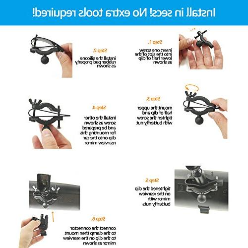 Dash Cam Mirror for Rexing V1LG and Rexing V1N Exclusively,