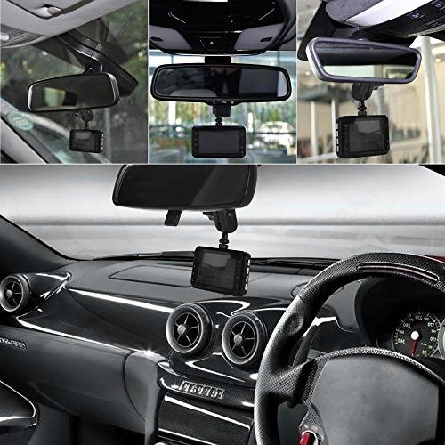 Dash - Mirror Mount, Come with 15+ Different Suitable for AUKEY, APEMAN, Rexing YI Peztio, Most Other Dash Cameras Dash