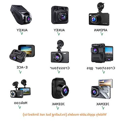 """Dash Cam Mount Holder AUKEY, Crosstour, YI 2.7"""", Z-Edge 3"""" Etc. with Different Points, 3M Double Sided Tapes, 3 x"""