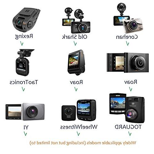 """Dash Cam Cup Mount Holder Fit AUKEY, YI 2.7"""", 3"""" Etc. with Different Tapes, 3"""