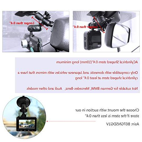 """Dash Cam - with Suitable for AUKEY, Rexing 2.7"""", Peztio, Most Other Dash Cameras Dash"""