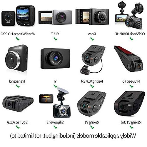 Anumit Dash Cam Mount, Universal Car Rear Mirror Holder 16 Types, Fits Old Shark, YI, X1, Falcon Zero F170HD and Other Cameras/GPS