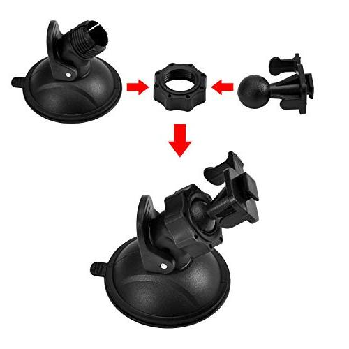 """Dash Mount Fit for AUKEY, Rexing YI Z-Edge 3"""" with Different 3M Double Tapes, 3 Wipes"""